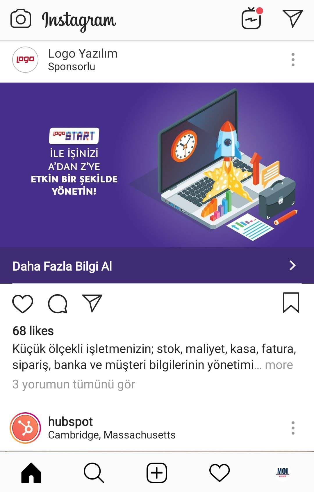 instagram gönderi tanıtımı örneği