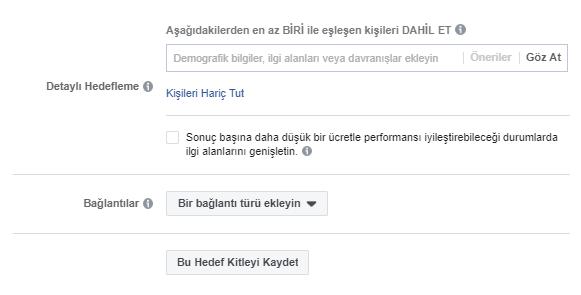 Facebook Detaylı Hedefleme