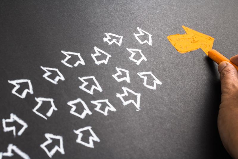 IG growth - Chalk arrows leader
