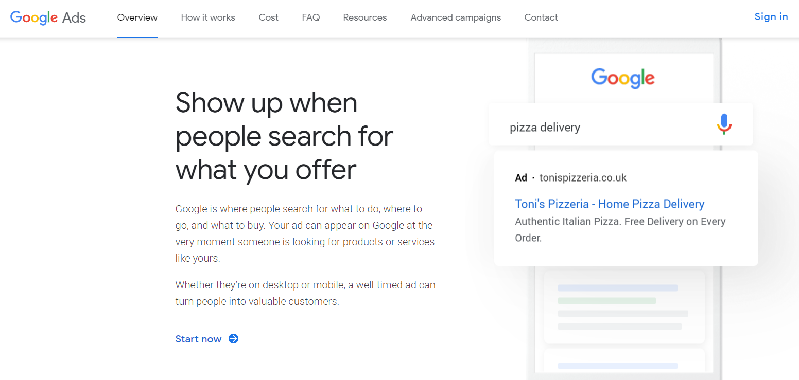 Google Ads - Show up when people search for what you offer