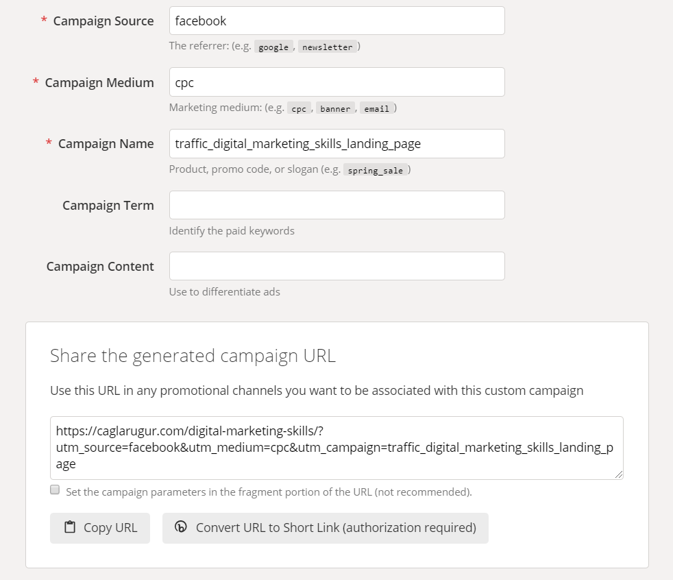 How to do UTM tagging