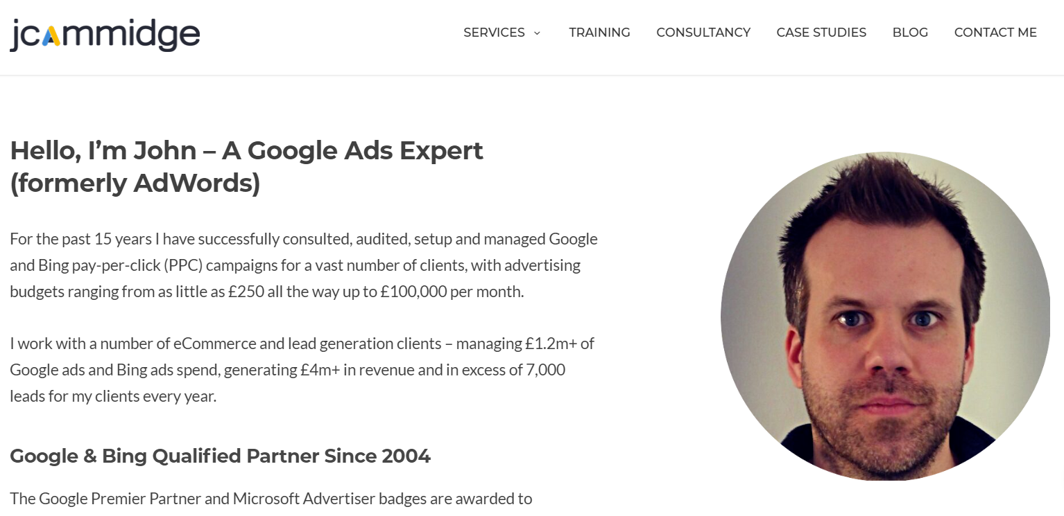 John Cammidge - Google Adwords Expert