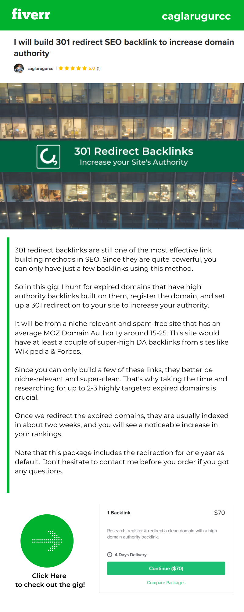 I will build 301 redirect SEO backlink to increase domain authority