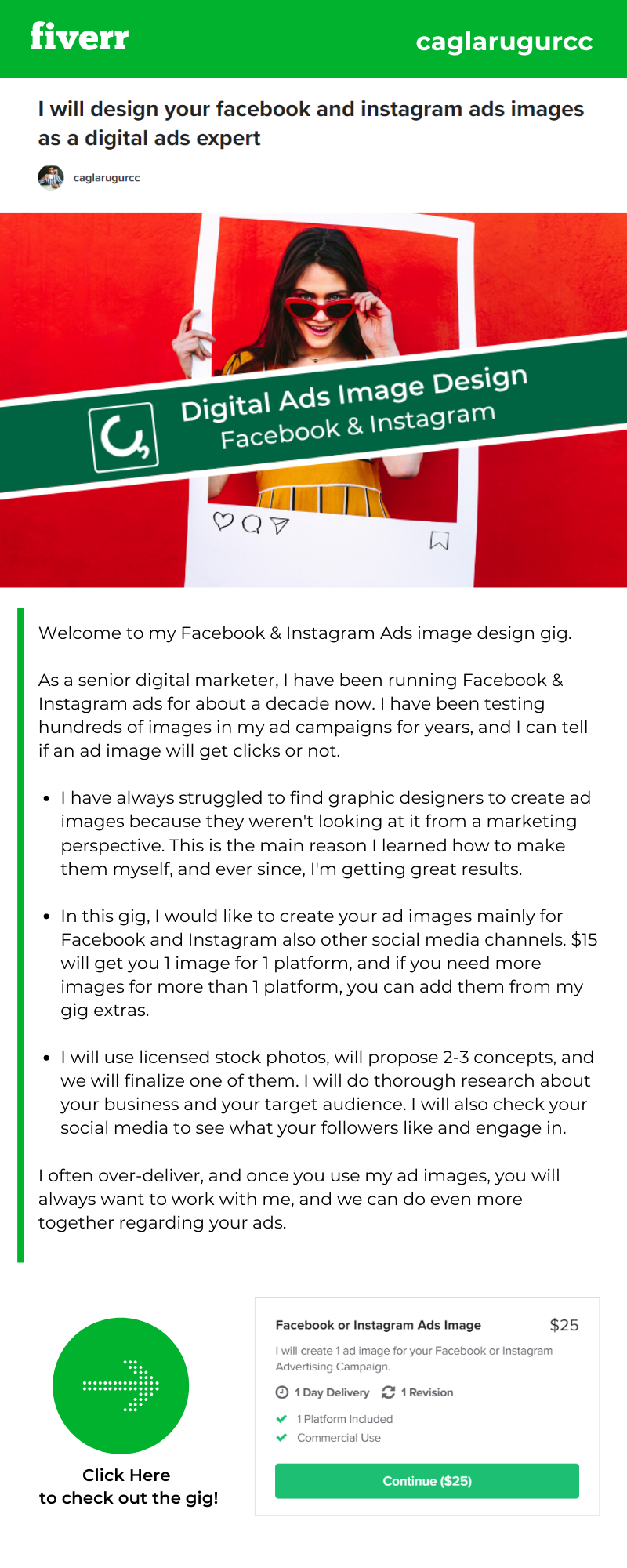 I will design your facebook and instagram ads images as a digital ads expert