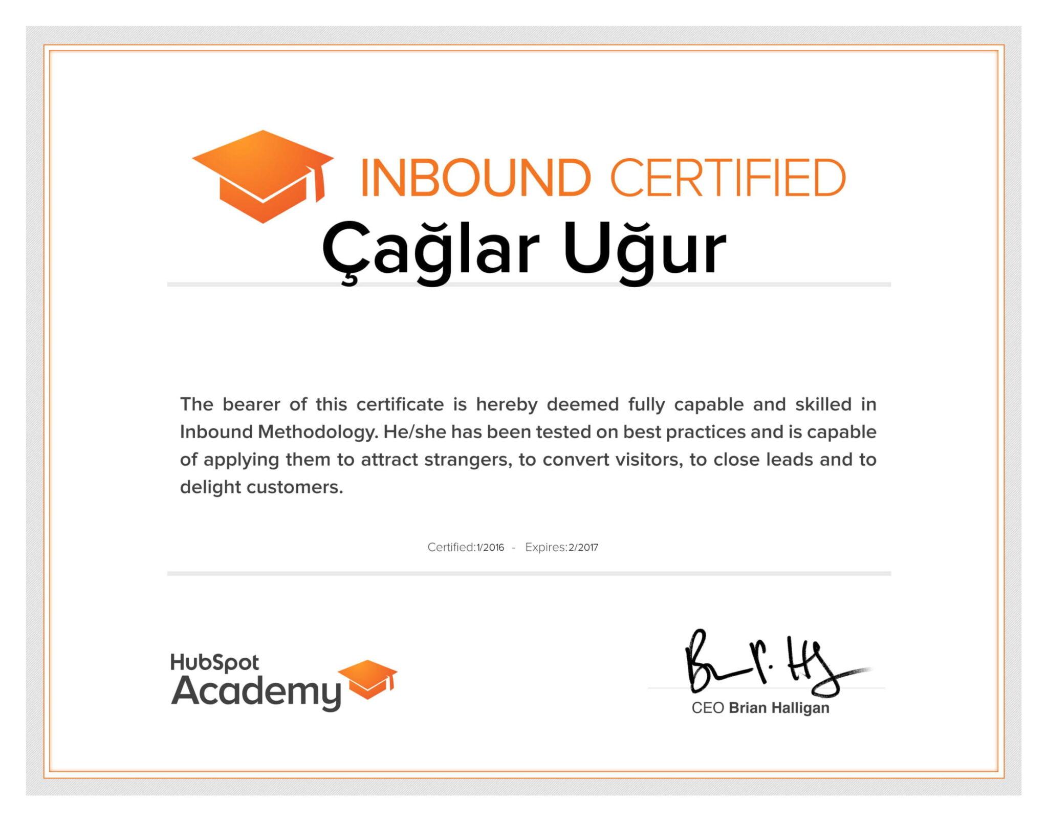 Hubspot_Inbound_Certificate 2017