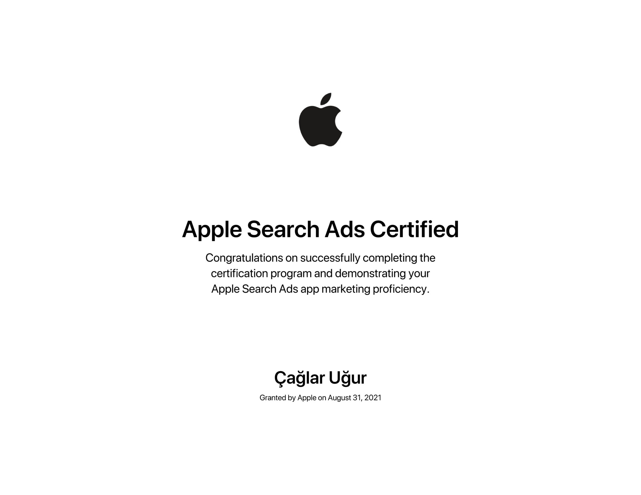 Apple-Search-Ads-Certification
